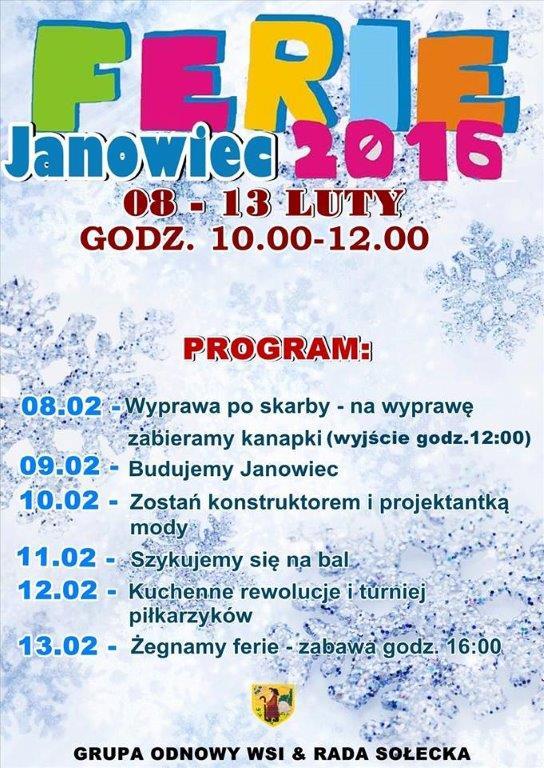 Ferie zimowe w Janowcu_01